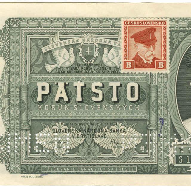Bankovka 500 Ks (krajina, fauna, flóra) - Kajlich, Aurel