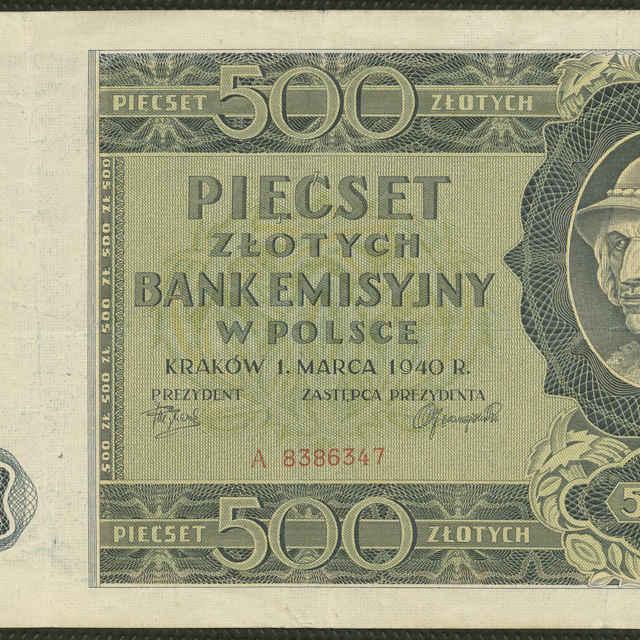Bankovka 500 zlotých (krajina)