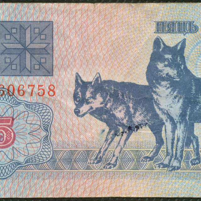 Bankovka 5 rubľov (fauna)