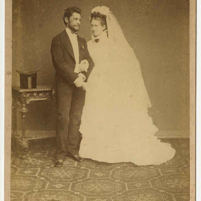 Foto manželského páru - Muzeálny objekt