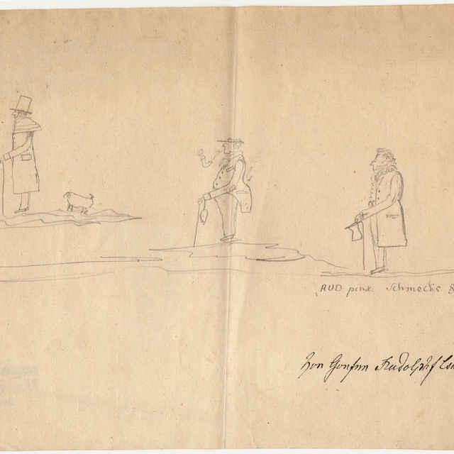 Kresba-karikatúra z roku 1835 - Čáki, Rudolf I.