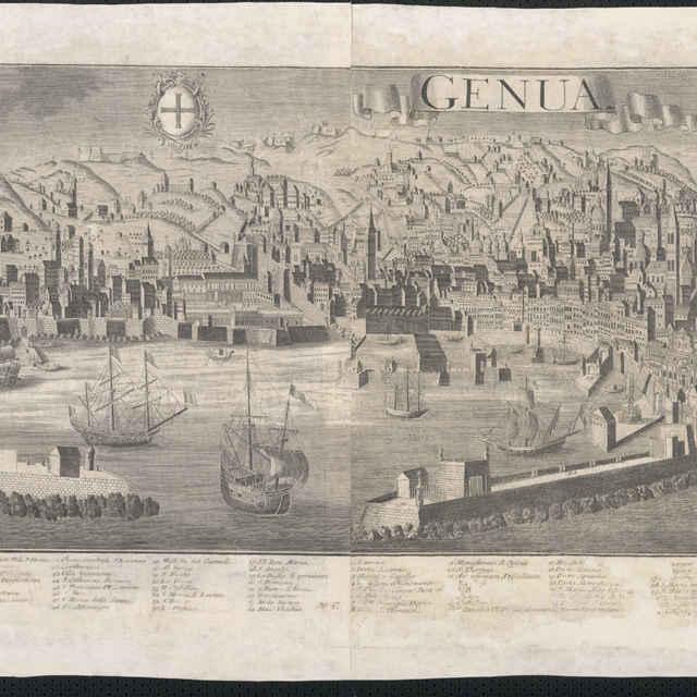 Obraz, Genua (Janov), <u>veduta</u>, autori: Friedrich <u>Bernhard</u> <u>Werner</u>, Johann Fredrich Probst, Jeremias Wolff, grafika, r.1731-1750