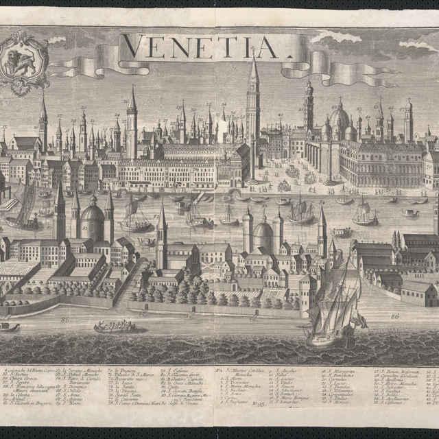 Obraz, Venetia. (Benátky), <u>veduta</u>, autori: Friedrich <u>Bernhard</u> <u>Werner</u>, Johann Fridrich Probst, Jeremias Wolff, grafika, r.1730-1750