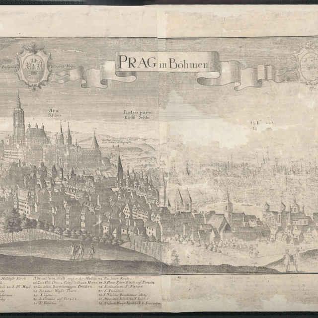 Obraz, Prag in Bohmen (Praha), <u>veduta</u>, autori: Friedrich <u>Bernhard</u> <u>Werner</u>, Jeremias Wolff, grafika, r.1731-1740