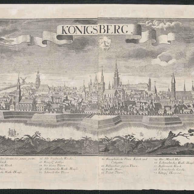 Obraz, Konigsberg. (Kaliningrad), <u>veduta</u>, autori: Johann Friedrich Probst, Friedrich <u>Bernhard</u> <u>Werner</u>, grafika, okolo r.1728-1760