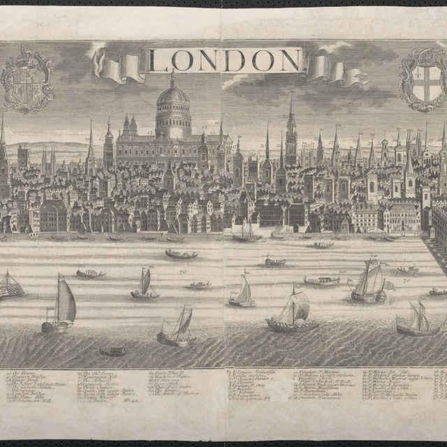 Obraz, London. (Londýn), veduta, autori: Johann Friedrich Probst, Friedrich Bernhard Werner, Jeremias Wolff, grafika, r.1730-1750 - Werner, Friedrich Bernhard