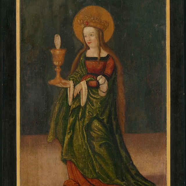 Oltárna tabuľa z Ilije - Svätá Barbora - neznámy (osobné meno)