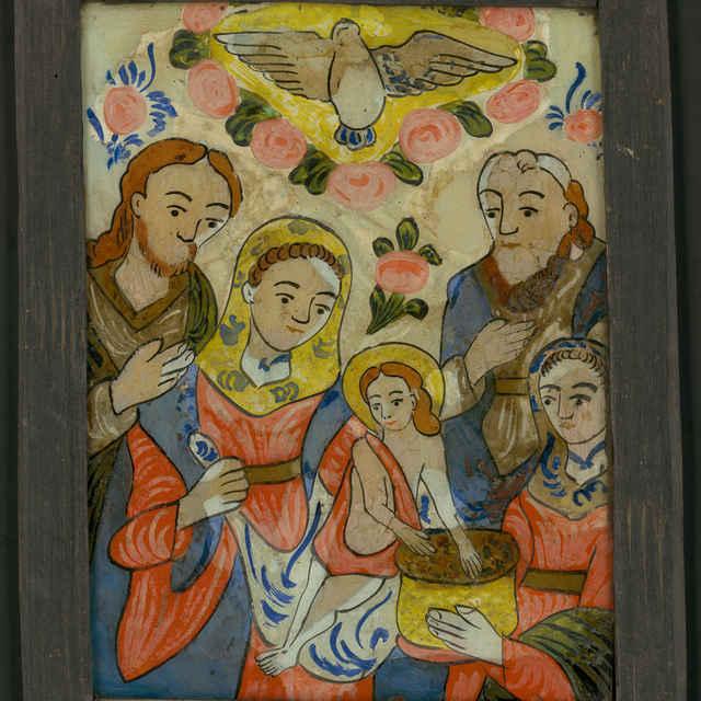 obraz na skle - Klaňanie troch kráľov