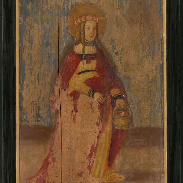 Oltárna tabuľa z Ilije - Svätá Dorota - neznámy (osobné meno)