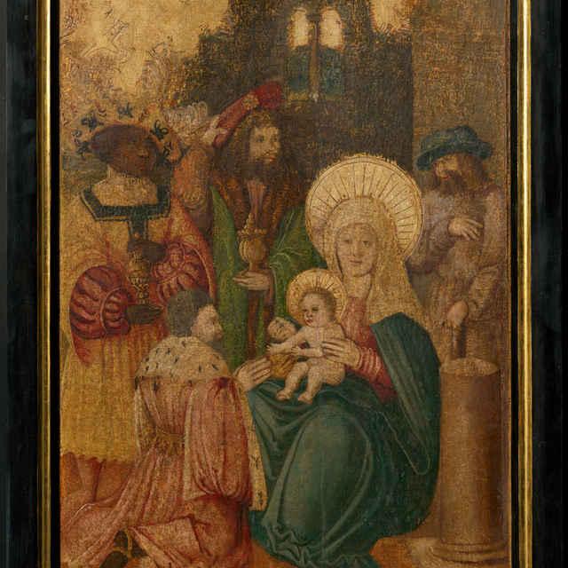 Oltárna tabuľa z Ilije - Klaňanie Troch kráľov - neznámy (osobné meno)