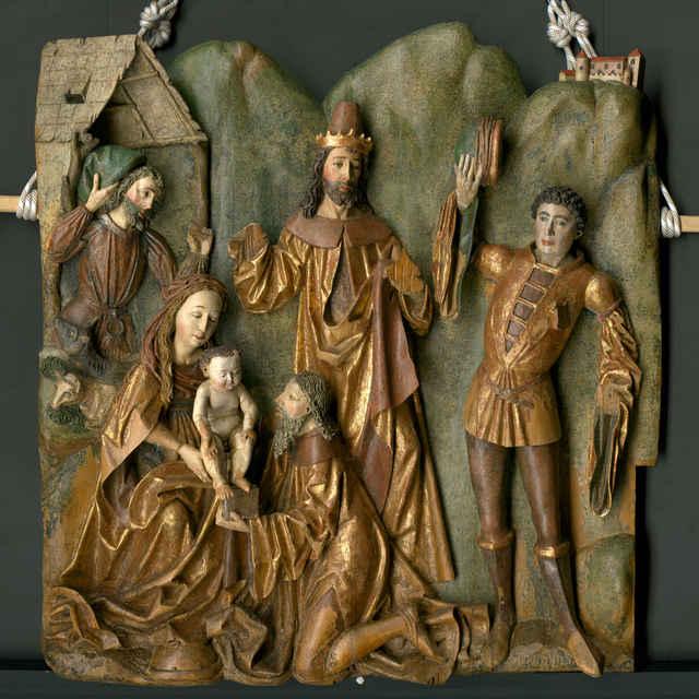 reliéf - Klaňanie Troch kráľov z Belej - neznámy (osobné meno)