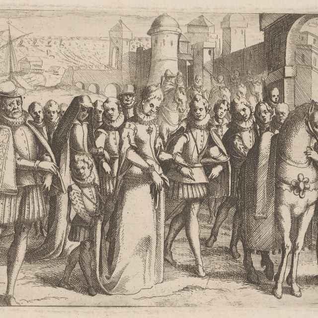Izabella, kráľovná Kastílska - Stredoeurópsky grafik z 2. polovice 16. storočia