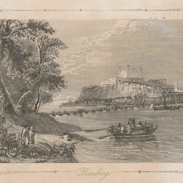 Bratislava z juhu - Stredoeurópsky grafik z 2. polovice 19. storočia