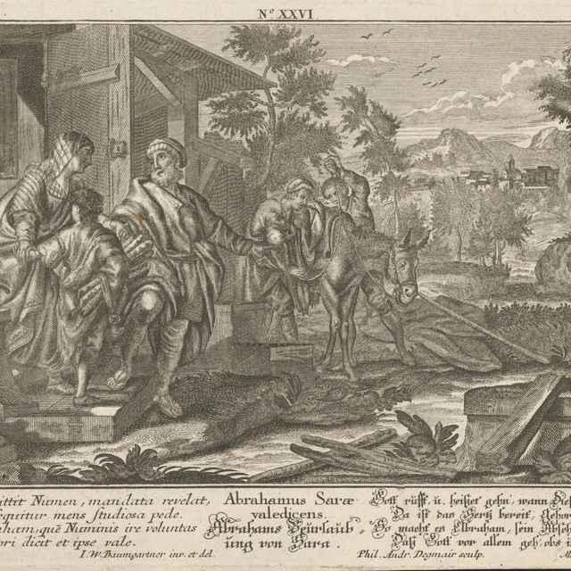 Abrahám sa lúči so Sárou - Degmair, Philipp Andreas