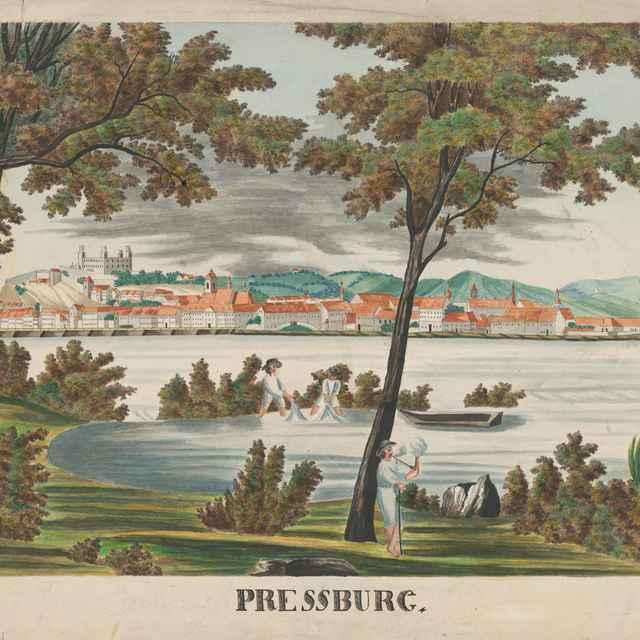 Bratislava z Petržalky - Stredoeurópsky maliar z konca 1. polovice 19. storočia