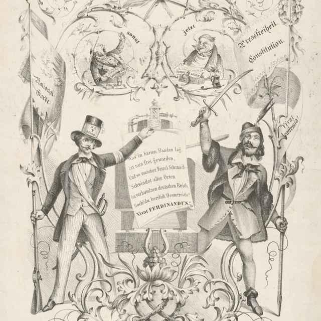 Karikatúra na panovanie Ferdinanda V. - Mylius, Carl Friedrich