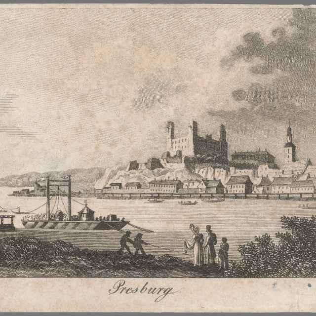 Bratislava - Stredoeurópsky grafik z 1. polovice 19. storočia