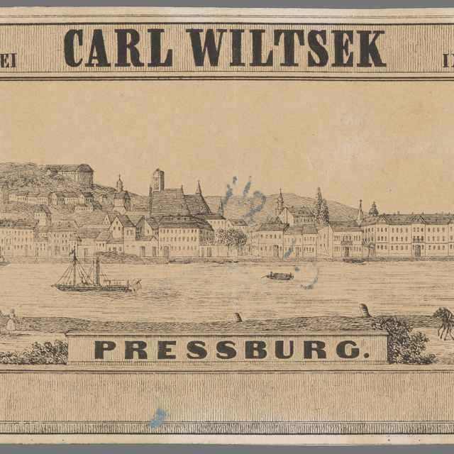 Bratislava - Stredoeurópsky grafik z polovice 19. storočia