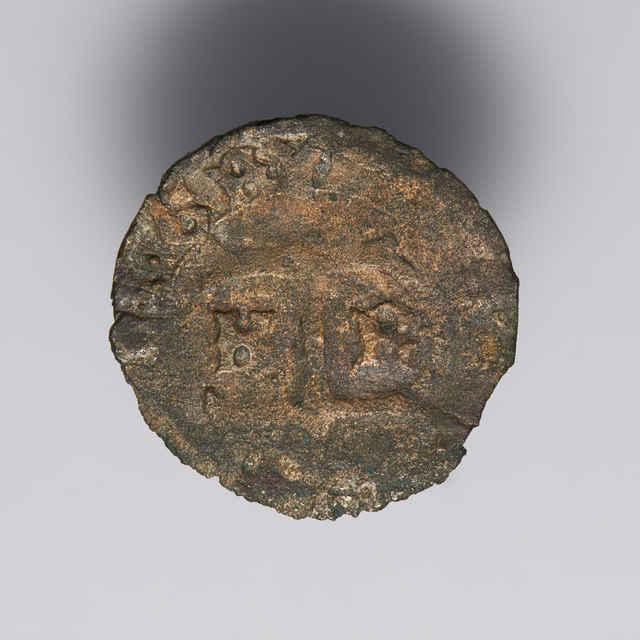 Denár Ladislava V. (1440-1453-1457), Uhorsko, Kremnica (1451-1452), medený