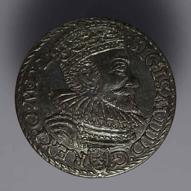 Minca kráľa Žigmunda III. Vasu (Trojgroš, Poľsko, 1592)