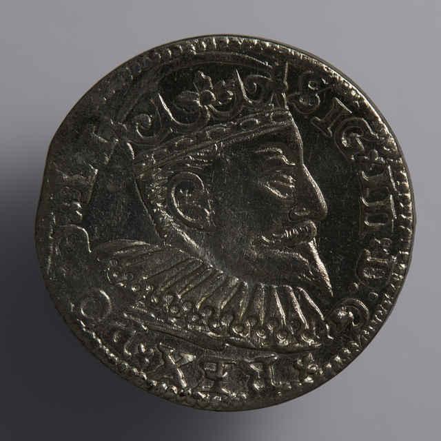 Minca kráľa Štefana Báthoryho (Trojgroš, Livónsko, 1581)