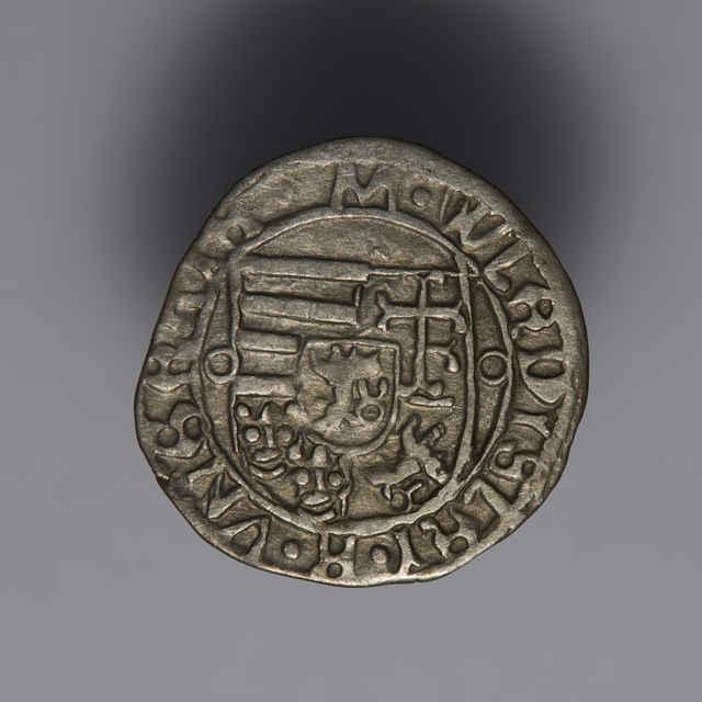 Denár Vladislava II. (1490 - 1516), uhorský, bez let., Kremnica, zn. K-M/AF/B (1496) - z hromadného nálezu.
