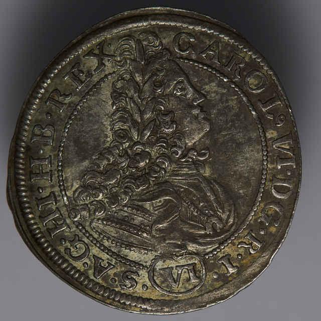 Minca kráľa Karola VI. (6-grajciarnik, Sliezsko, 1714)