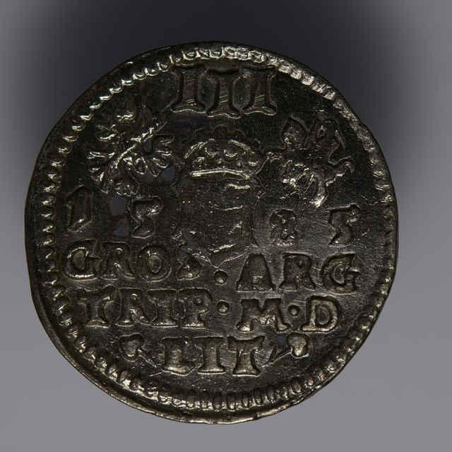 Minca kráľa Štefana Báthoryho (Trojgroš, Poľsko-litovská únia, 1585)