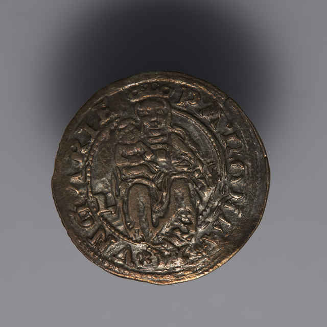 Denár Ľudovíta II. (1516 - 1526) - z hromadného nálezu strieborných mincí