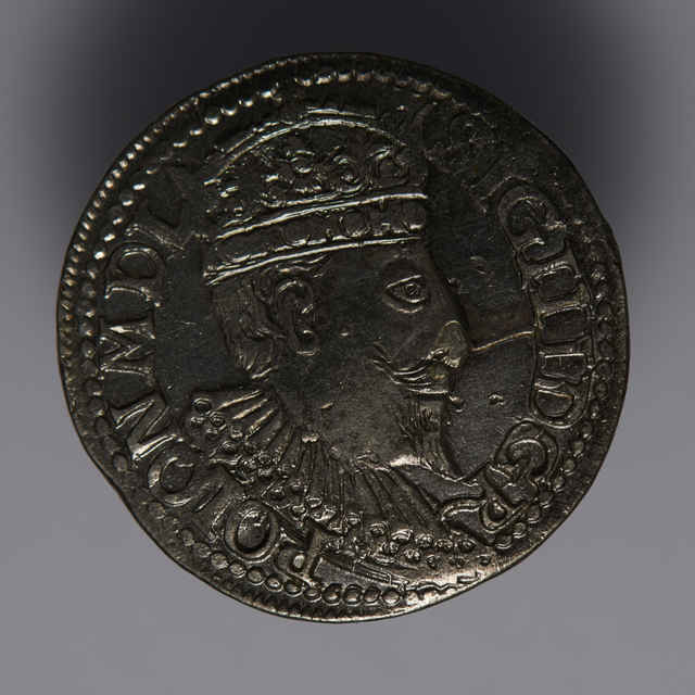 Minca kráľa Žigmunda III. Vasu (Trojgroš, Poľsko, 1595)