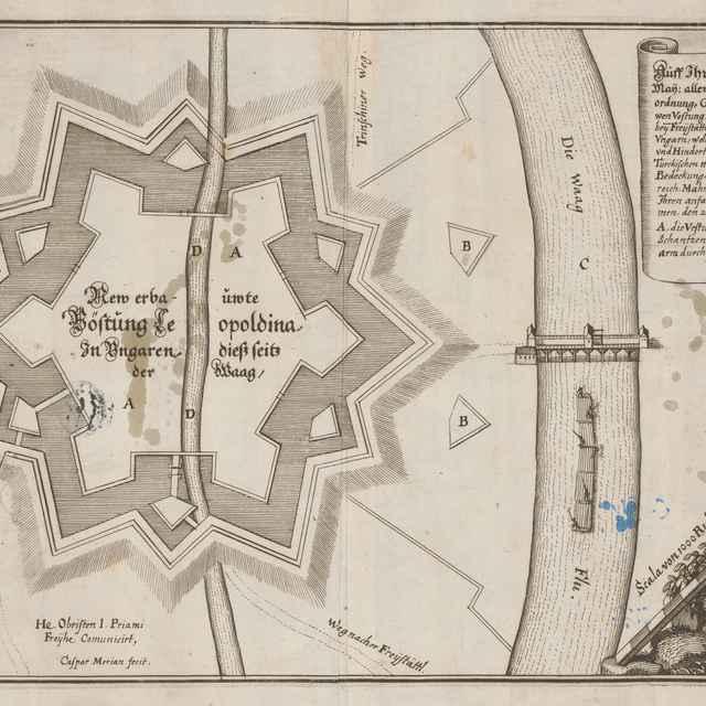 Pôdorys pevnosti Leopoldova - Merian, Kaspar