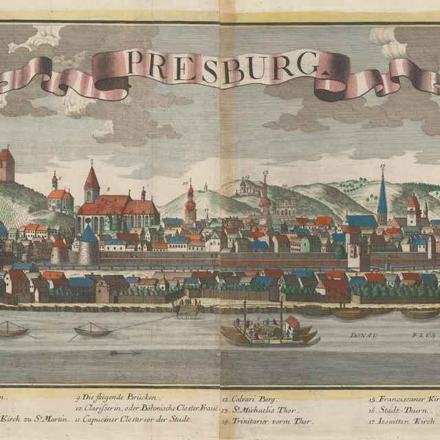 Bratislava z juhu - Probst, Georg Balthasar