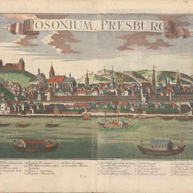 Pohľad na Bratislavu z juhu - Werner, Friedrich Bernhard