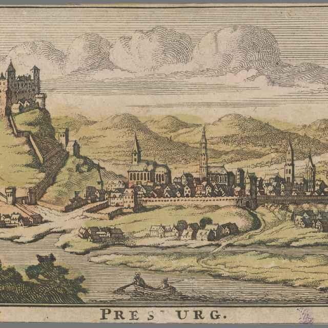 Bratislava z juhu - Danckerts, Theodorus