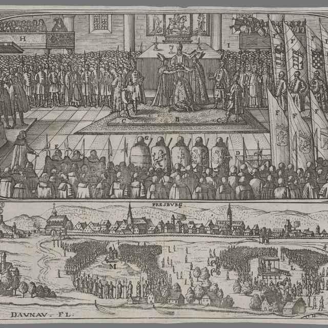 Korunovácia Leopolda I. v Bratislave - Stredoeurópsky grafik zo 17. storočia