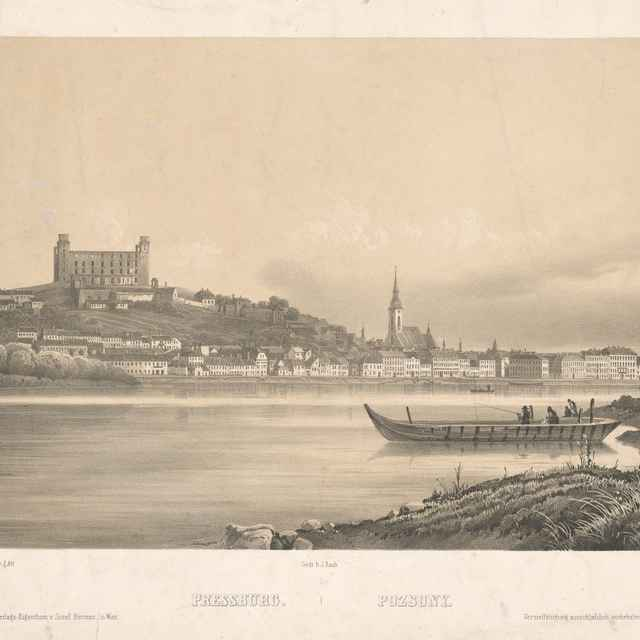Bratislava z juhu - Sandmann, Franz Josef