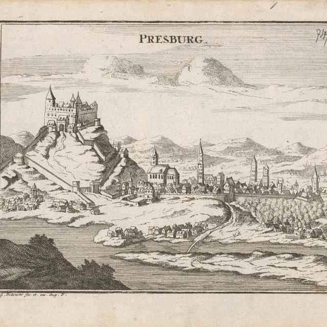 Pohľad na Bratislavu z juhu - Bodenehr, Johann Georg