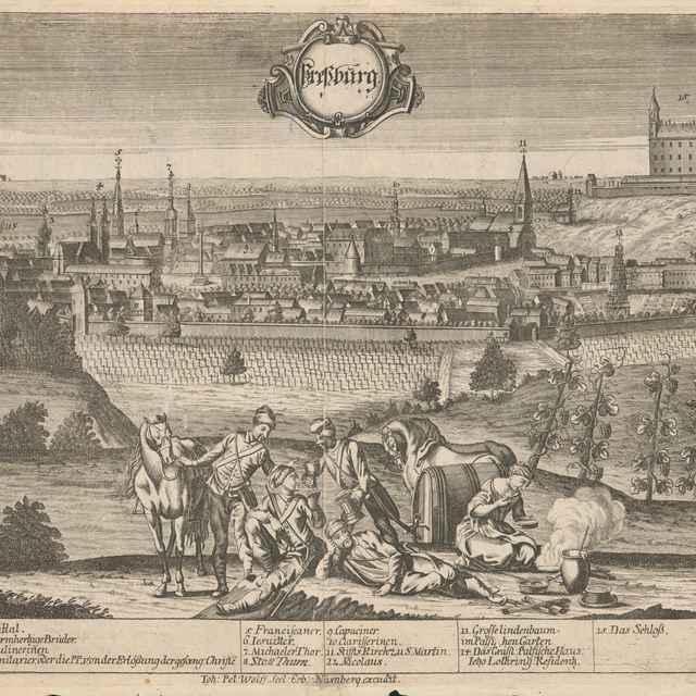Pohľad na Bratislavu zo severozápadu - Werner, Friedrich Bernhard