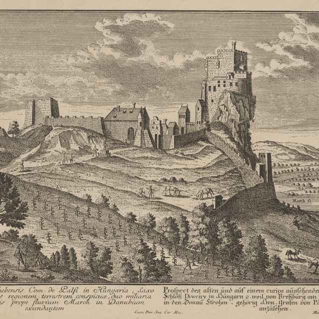 Pohľad na hrad Devín - Werner, Friedrich Bernhard