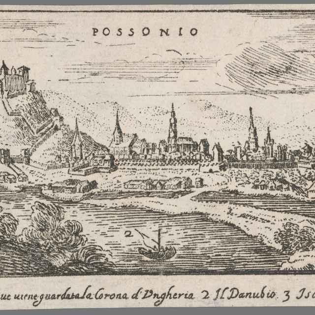 Bratislava z juhu - Sandrart, Jacob von