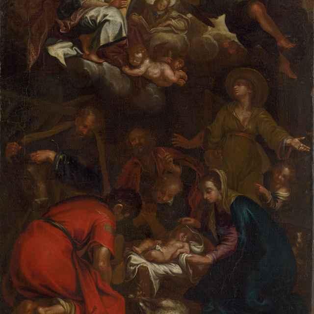 Klaňanie pastierov - Stredoeurópsky maliar z 1. polovice 18. storočia