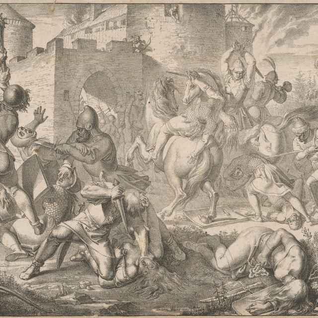 Zničenie hradu Devín - Führich, Joseph von