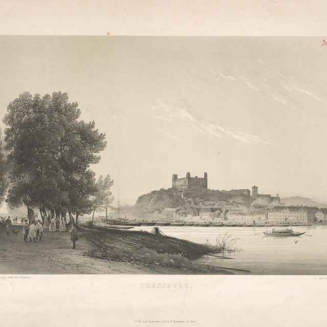 Bratislava v 19. storočí - z juhu - Alt, Rudolf