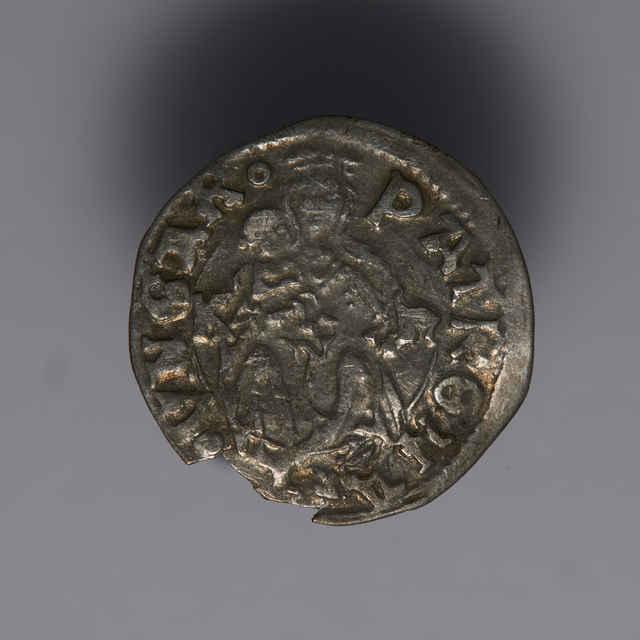 Denár Vladislava II. (1490 - 1516) - z hromadného nálezu strieborných mincí.