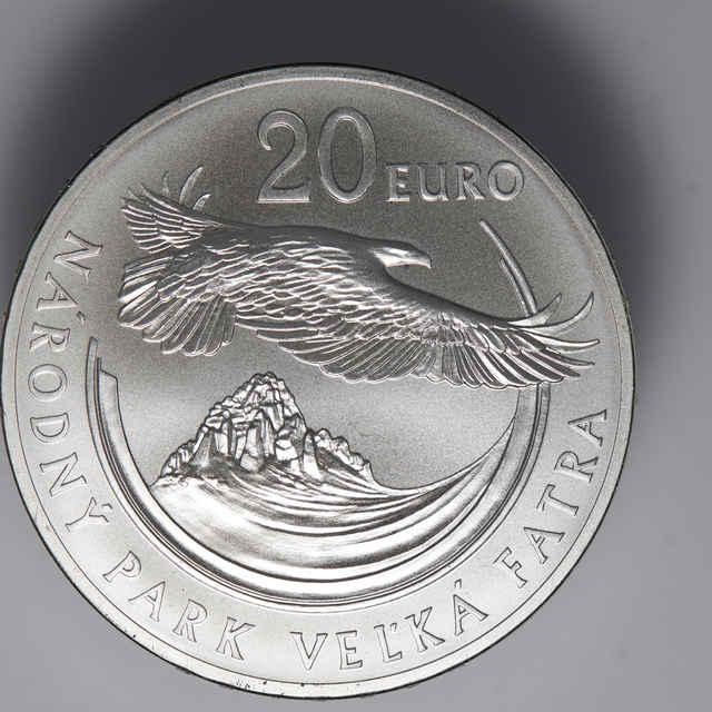 Minca pamätná 20 € Národný park Veľká Fatra