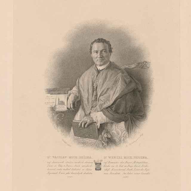 Portrét Dr. Václava Michala Pešinu - Rybička, Josef