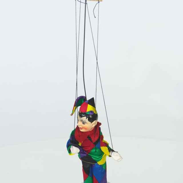 Bábka závesná, marioneta, šašo