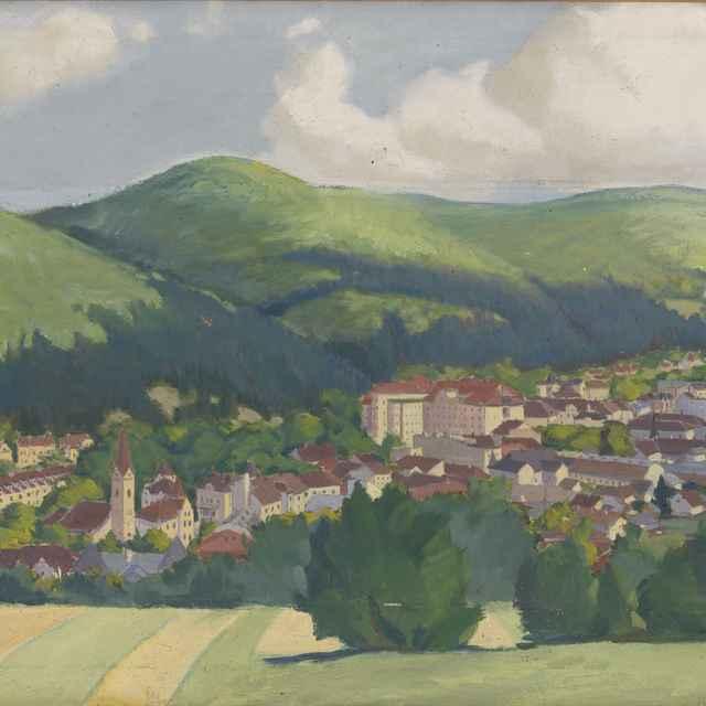 """Obraz: """"Tr. Teplice"""", autor: K. Ondreička"""