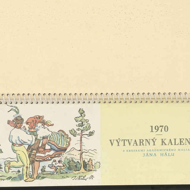 Kalendár výtvarný s reprodukciami Jana Hálu - Hála, Jan