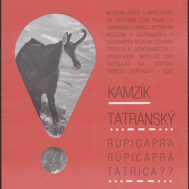 Plagát Rok ochrany európskej prírody, výstava kamzík tatranský